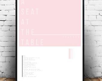 Solange print, Solange merch, Solange poster, Solange wall art, Solange gift idea, Solange A seat at the table, Solange album, Solange art