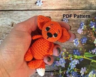 Fox Amigurumi Pattern Crochet fox pattern crochet animal pattern pdf
