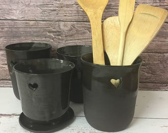 gro e keramik utensilienhalter k che beh lter gro e keramik. Black Bedroom Furniture Sets. Home Design Ideas