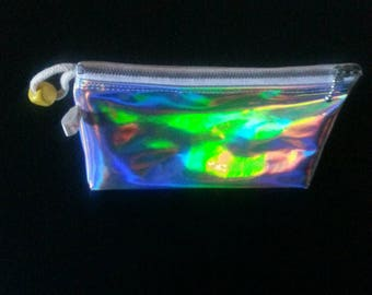 Holographic mirror 3D Triangular base pencil case