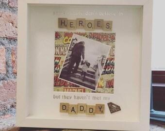 Daddy Superhero Frame