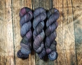 Hand Dyed Yarn 'Dark Room' - Sock Weight Variegated Speckled Yarn - 464yd/100g of 75/25 BFL/Nylon Superwash Blue, Deep Pink, Gold, Variegate