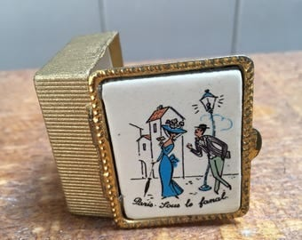 Vintage French Pill Box