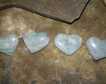 Natural Amozonite Gemstone Hearts