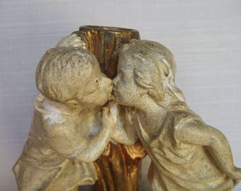 """Antique French Sculpture """"first kiss"""" circa 1880's"""