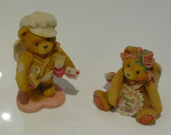 Cherished Teddies  - Girl and Boy Bear Cupid  - Be My Bow 103586 and Sent With Love 103551. 1994. Boxed.