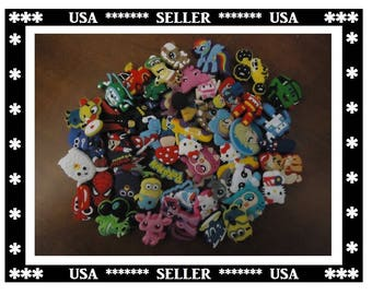 Croc Shoe Charms (50) Total Pieces Mixed Croc Shoe Charms Cartoon Characters Goody Bags Shoe Charms Kids DIY Craft Projects Party Favors