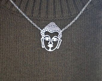 925 Silver necklace with a Buddha head