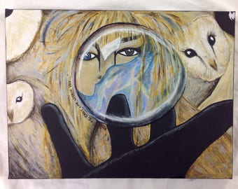 You have no power over me - labyrinth inspired painting