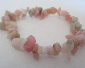 Beautiful baroque rhodonite bracelet.