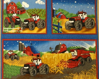 CASE IH quilt, blanket, red tractor quilt, tractor bedding, lap quilt, wall hanging, boy gift, Case IH tractor, handmade, farm quilt