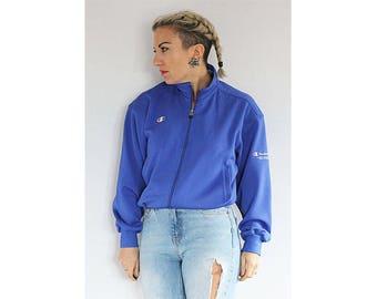 Vintage 1990s Champion bright blue jacket