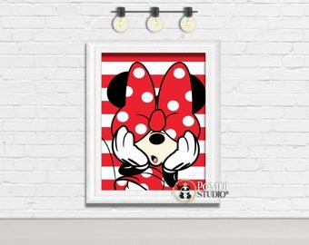 PRINTABLE || Minnie Mouse Poster 11x14 AND 8.5x11|| Minnie Mouse Decorations||