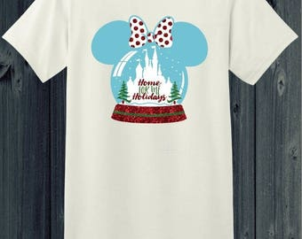 Glitter Minnie Snow Globe T-Shirt