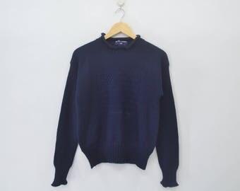 POLO Ralph Lauren Vintage 90's Polo Ralph Lauren American Flag Navy Blue Knitwear Sweaters Wool Size Large