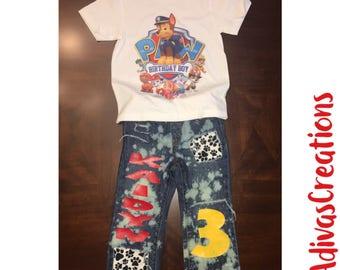 Paw Patrol Outfit, Paw Patrol Birthday Set, Paw Patrol Birthday Outfit, Paw Patrol, Paw Patrol Birthday Shirt, Paw Patrol Outfit Boy.