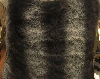 """ON SALE 18"""" faux fur toss pillow/cushion cover"""