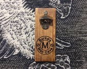 Rustic Personalized Magnetic Bottle Opener
