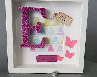 Personalised Letter Frame, Personalised Frame, Baby Gift, Newborn Gift, Nursery, Nursery Gift