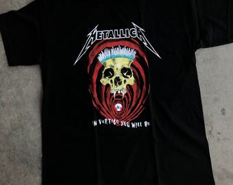 Metallica In vertigo u will be t shirt color black heavy metal