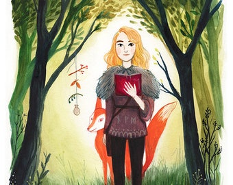 Woodland Magic Illustrated Print