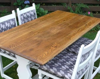 Oak Dining Table.