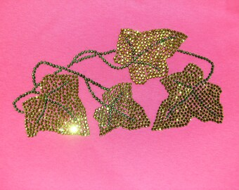 IVY VINE Rhinestone Iron On-Alpha Kappa Alpha-Divine Nine Sorority Iron Ons-Create your own Apparel & Gifts-DIY Sorority Bling Iron Ons