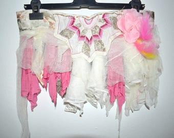 Pixie Skirt,Elfen Rock,Shabby,Victorian,Skirt,Boho,Goa,Festivallook,Halloween,Party,Coachella,Burning Man,Sand,Princess Skirt,feen Rock,Elf