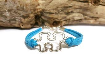 Bracelet suede puzzle