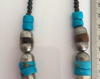 Vintage boho necklace 1980's, 80's
