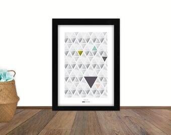 A3 poster - geometric - Scandinavian style