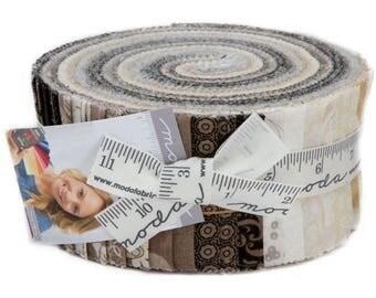Mavern Jelly Roll - Basic Grey Fabric - Moda Prints - Pre cuts