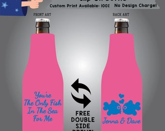 You're The Only Fish In The Sea For Me Name & Name Slip On Bottle Double Side Print (SF-W9)
