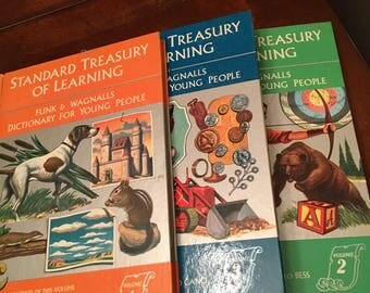 Standard Treasury Of Learning - Funk & Wagnalls Dictionary For Young People - Volumes 2, 3 and 4