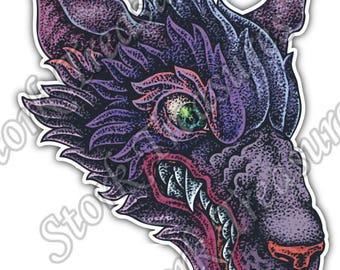 Wolf Head Canis Lupus Wild Animal Car Bumper Vinyl Sticker Decal