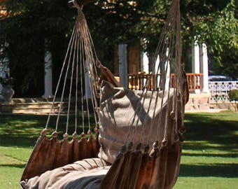 Hanging Chair RELAX in mud look cotton attanetion, up to 120 kg