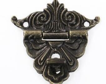 5 x Schatullenschloss Chests Lock Box lock 4.7 x 2.0 cm Antique Bronze