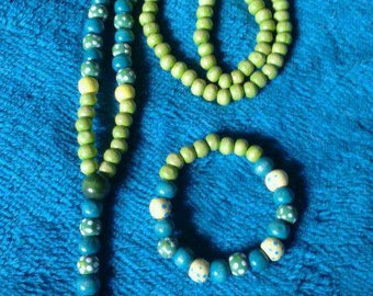 Set of universal prayer beads with tree of life charm and matching bracelet
