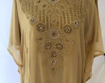 Egyptian Goddess Abaya Caftan, Embellished Kaftan Dress, Moroccan Kaftan Maxi Dress, Dubai Kaftan, Beaded Evening Gown, Tunic