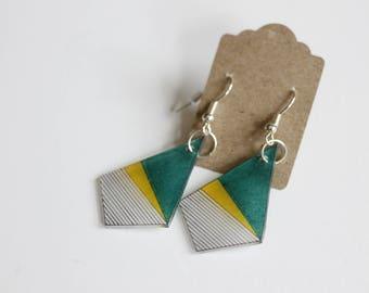 Shrink Plastic Kite Earrings