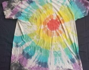 Rainbow bullseye tie dye