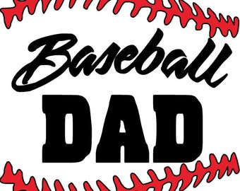 Baseball dad yeti decal, vinyl decal, yeti decal, RTIC decal, Wine Glass Decal, Coffee Cup Decal