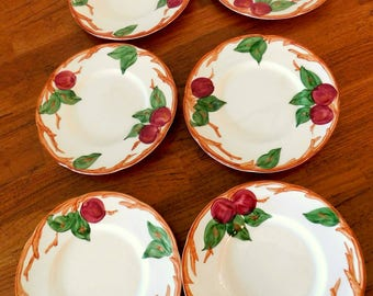 Original Apple Franciscan dinnerware dessert or bread plates vintage  SHIPPING INCLUDED
