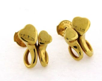 GEORG JENSEN 18k Gold earrings  #10622