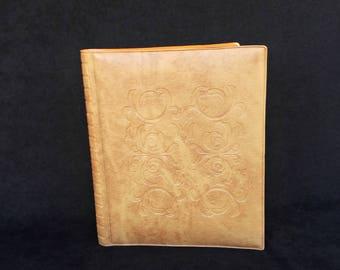 Vintage Tooled Leather Photo album, Retro Leather Photos Cover, Brown  Leather  Album Pictures, Vintage leather photo album