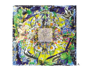 digital download / collage art / deep / digital for print