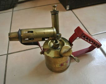 Rustic Vintage Paraffin Blow Torch Burner