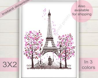 Eiffel tower print etsy - Salon des seniors paris invitation ...