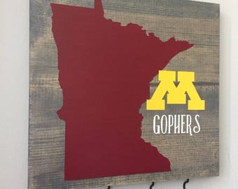 MN Gopher Wood Sign