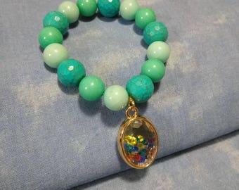 Large beaded Charm bracelet#4